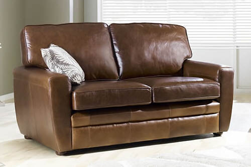 strand leather sofa bed