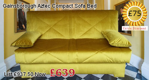 gainsborough aztec compact sofa bed