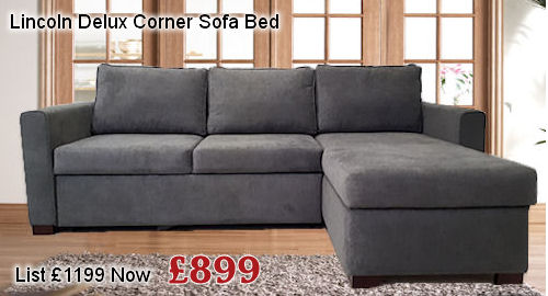 lincoln corner sofa bed