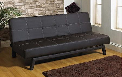 billy clic clac leather sofa bed. Black Bedroom Furniture Sets. Home Design Ideas