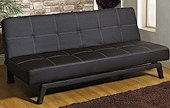 billy faux leather sofa bed