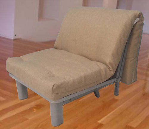 skate single metal futon chair